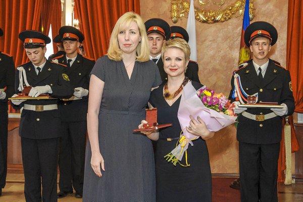 Анна Минькова на приеме лауреатов премии региональной администрации